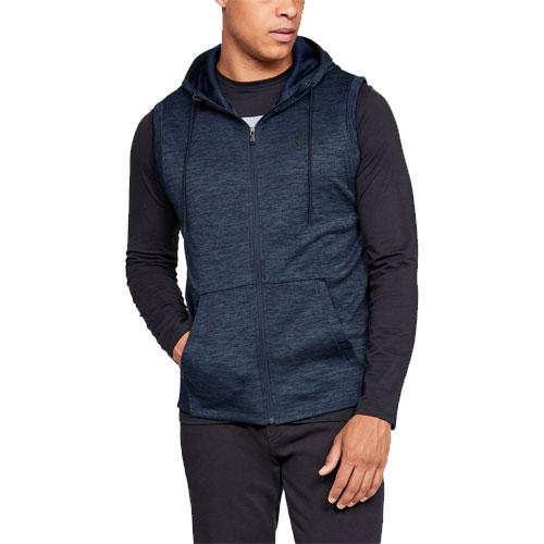 Sleeveless Full Zip Armour Fleece, Navy, swatch