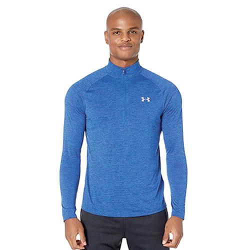 Men's Long Sleeve Tech 1/2 Zip Shirt, Royal Bl,Sapphire,Marine, swatch