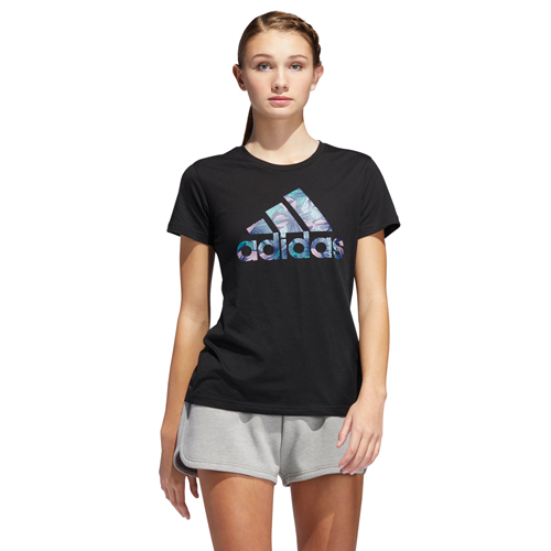 Women's Tropical T-Shirt, Black, swatch