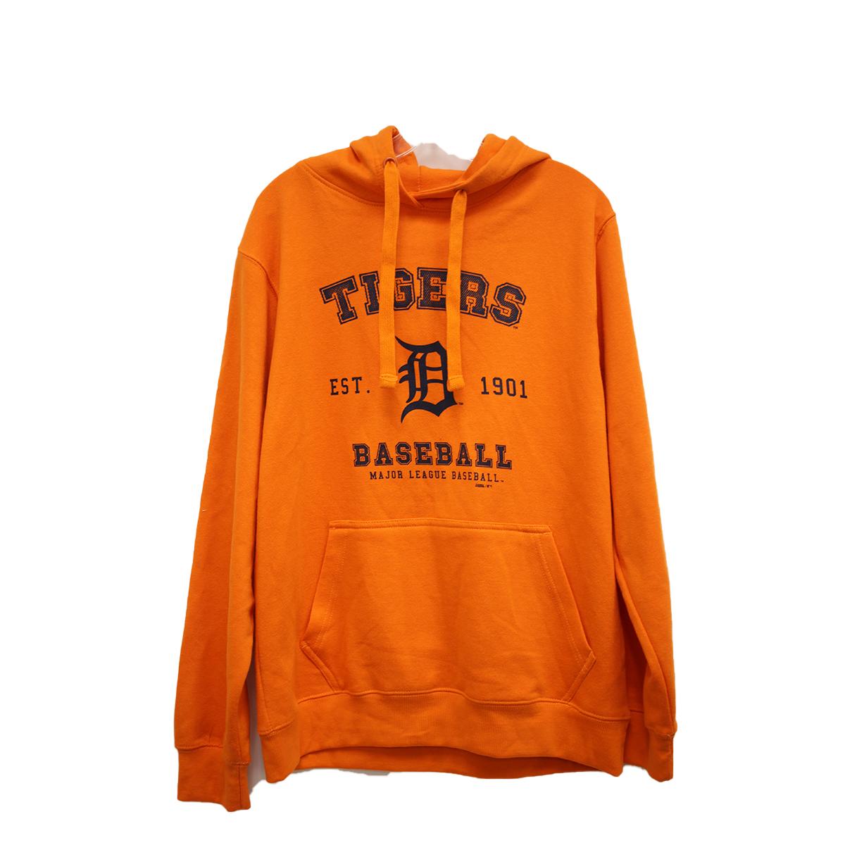 Men's Detroit Tigers Stitches Pull Over Hoodies, Orange, swatch