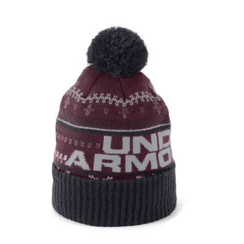 Men's Retro Pom 3.0 Ski Hat, Dk Red,Wine,Ruby,Burgandy, swatch