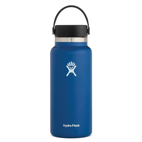 32 Oz Wide Mouth Water Bottle, Royal Bl,Sapphire,Marine, swatch
