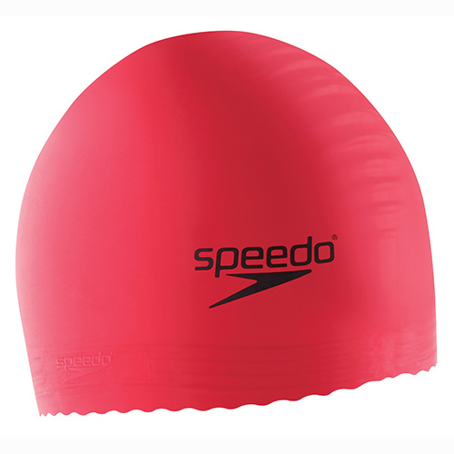 Solid Latex Cap, Pink, swatch