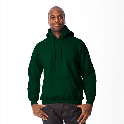 Men's Long Sleeve Fleece Pullover Hoodie, Dkgreen,Moss,Olive,Forest, swatch