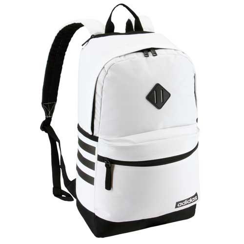 Classic 3 Stripe III Backpack, White/Black, swatch