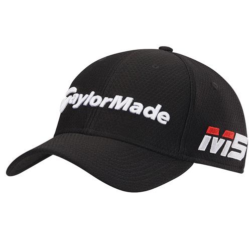 Men's New Era Tour 39Thirty Golf Hat, Black, swatch