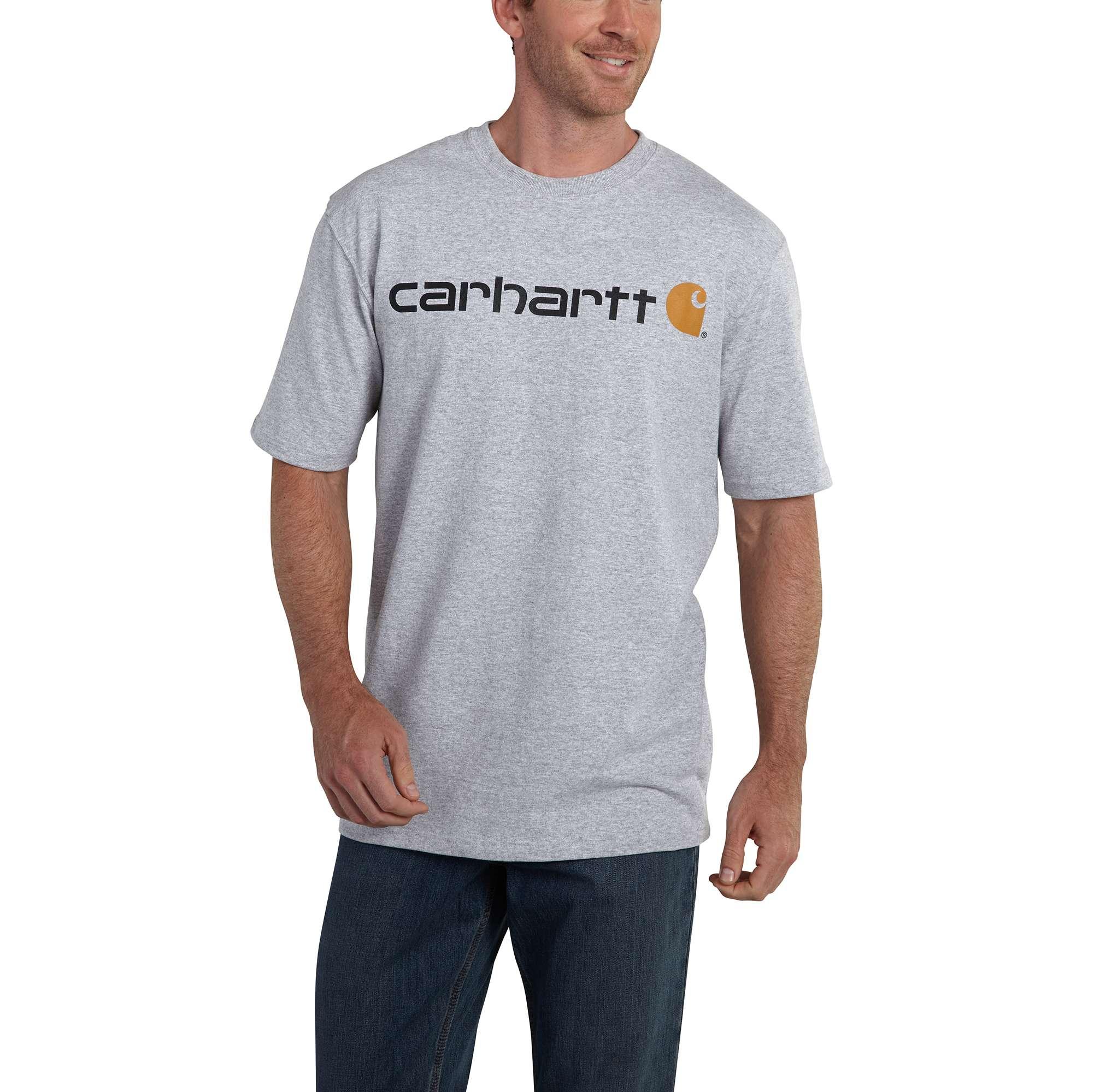Men's Short Sleeve Logo T-Shirt, Gray, swatch