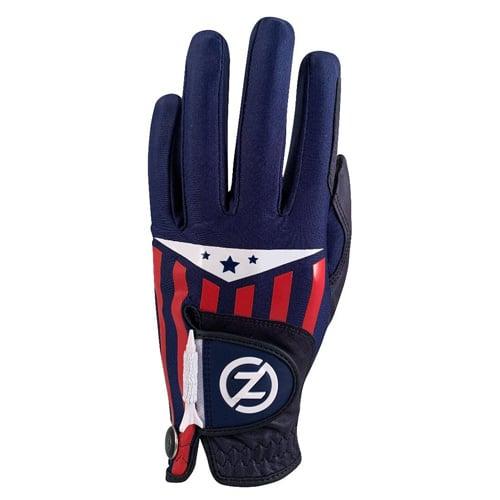 Men's Americana Leather Cabet Left Hand Golf Glove, Blue, swatch