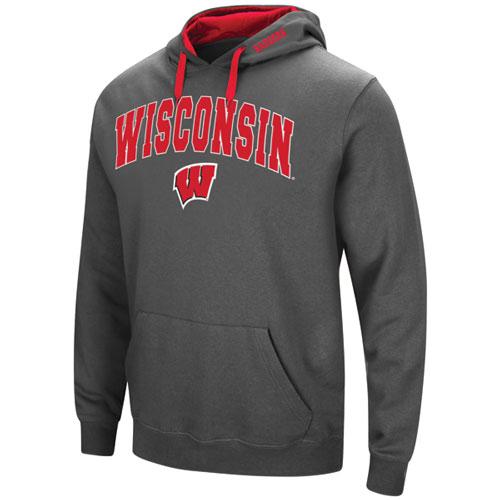 Men's Wisconsin Tackle Twill Hoodie, Charcoal,Smoke,Steel, swatch