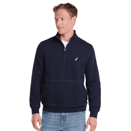Men's 1/4 Zip Fleece, Navy, swatch