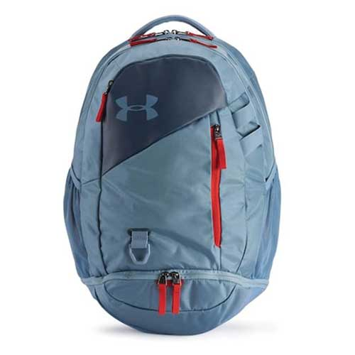 Under Armour Hustle 4.0 Backpack, Ash,Birch, swatch