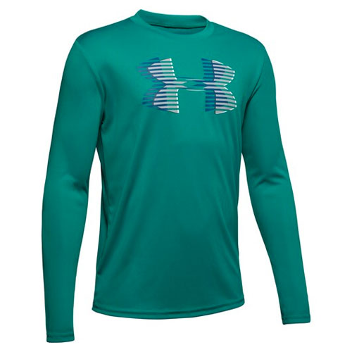Boy's Under Armour Tech Big Logo, Green Blue, Teal, swatch