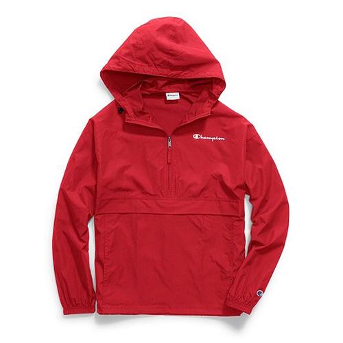 Men's Packable Jacket, Red, swatch