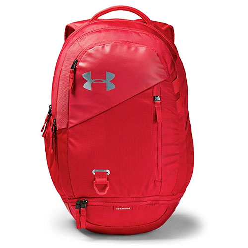 Under Armour Hustle 4.0 Backpack, Red, swatch
