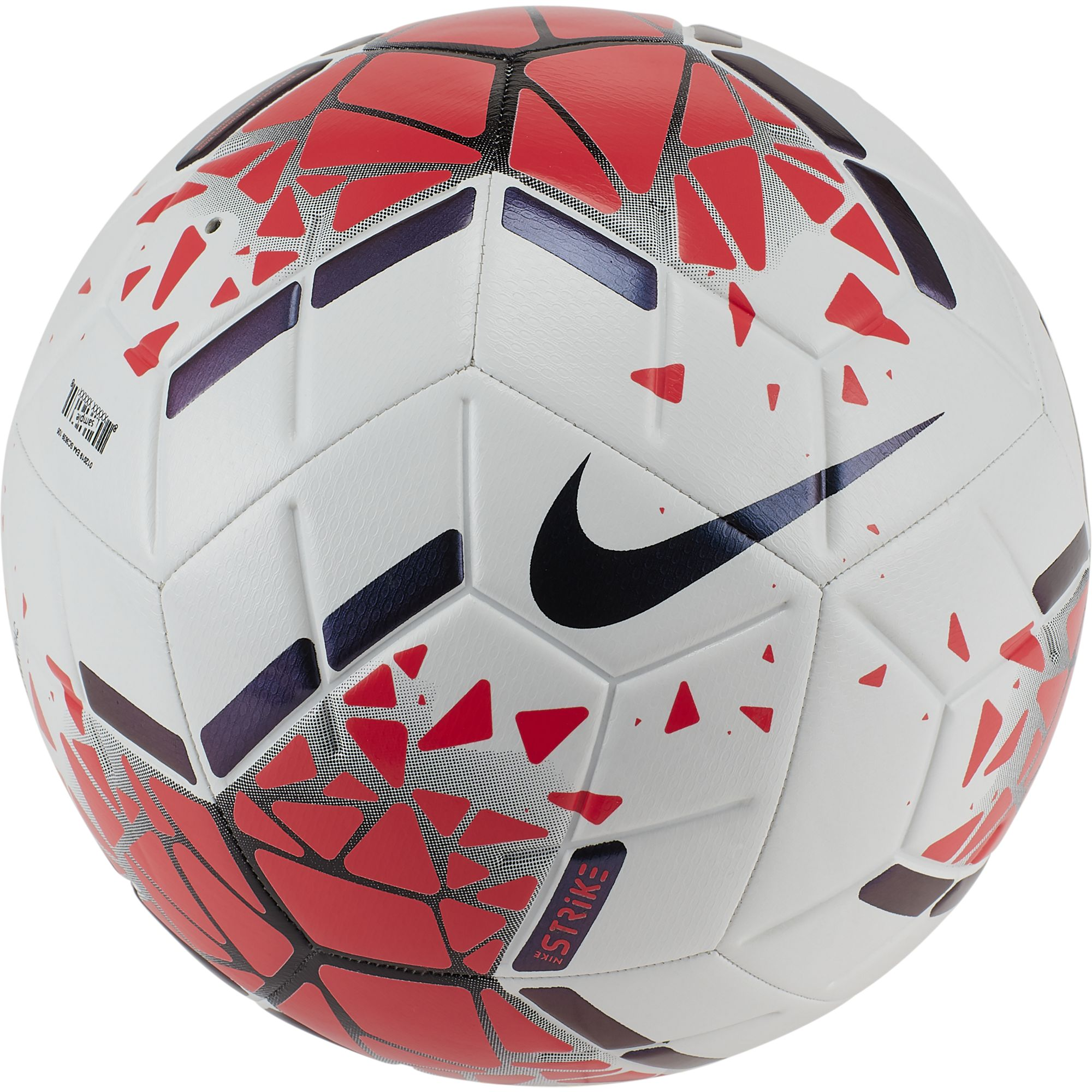 Strike Soccer Ball, White/Red, swatch