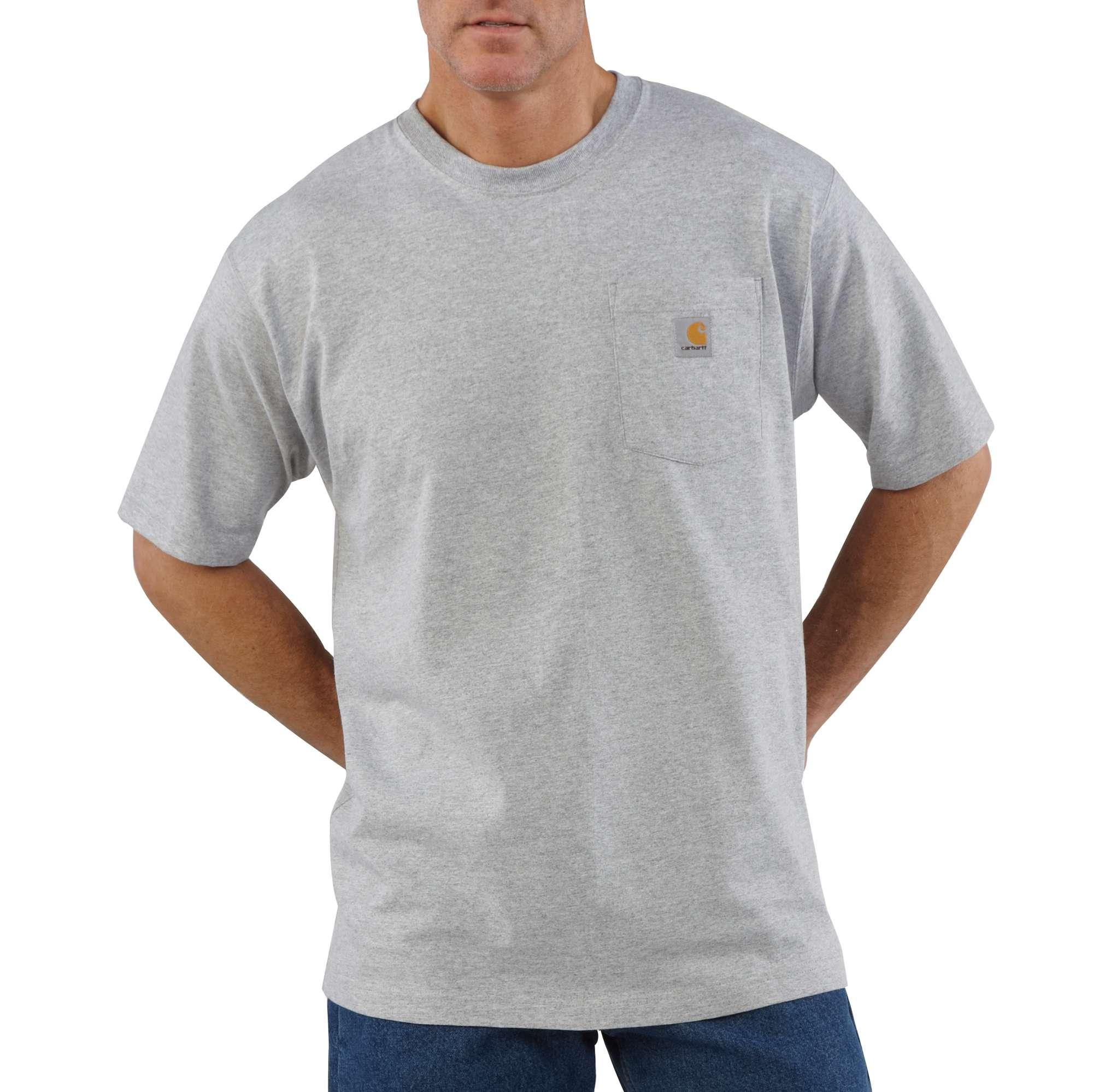 Men's Workwear Pocket Tee, Heather Gray, swatch