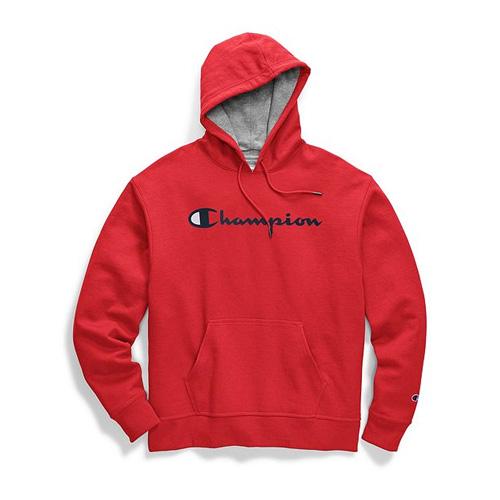 Men's Powerblend Big Logo Pullover Hoodie, Red, swatch