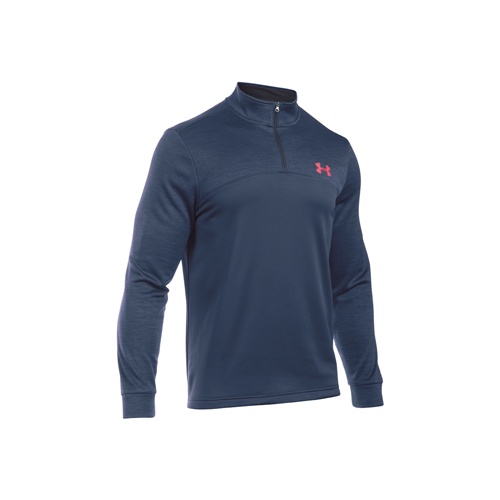 Men's Long Sleeve Armour Fleece Icon 1/4 Zip, Navy/Orange, swatch
