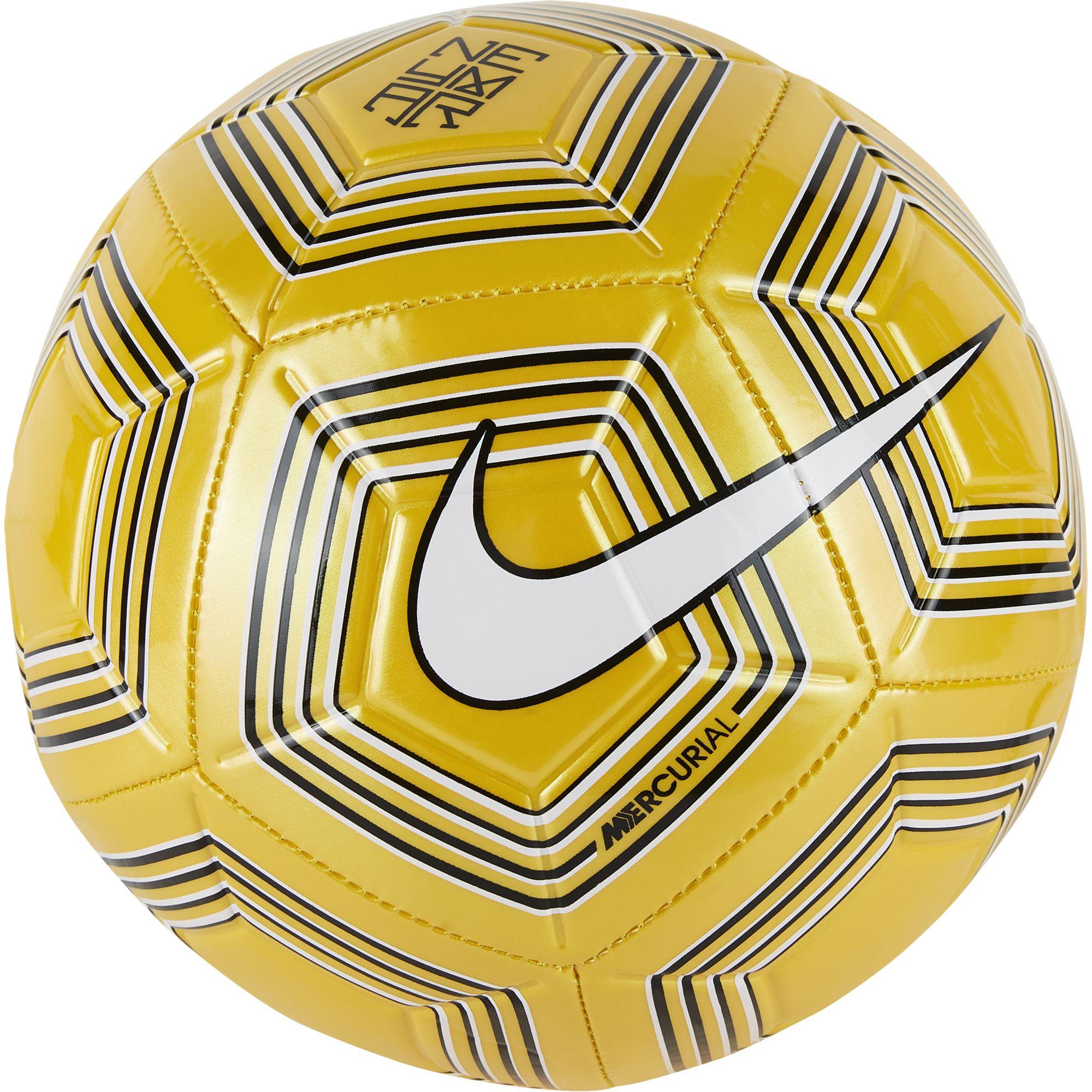 Neymar Strike Soccer Ball, Gold, Yellow, swatch