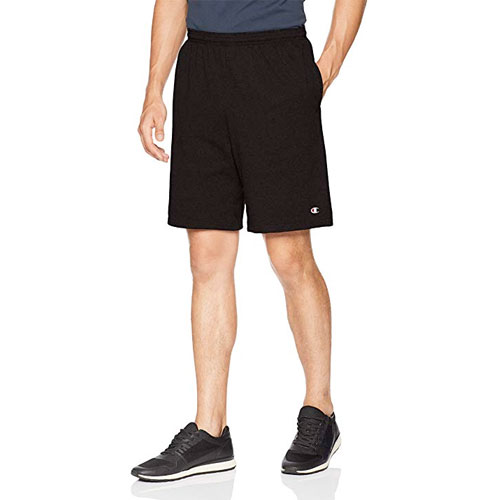 Men's Jersey Short With Pockets, Black, swatch