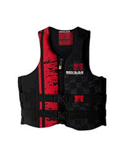 Stealth Neoprene Vest, Black/Red, swatch