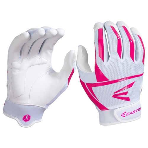 Women's Prowess Batting Gloves, White/Pink, swatch