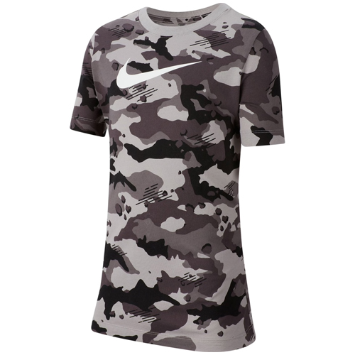 Boys' Camo Tee, Heather Gray, swatch