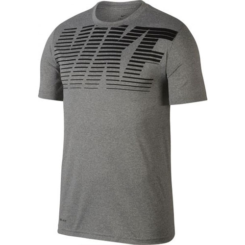 Men's Short Sleeve Legend Gym Dry-Fit Tee, Heather Gray, swatch