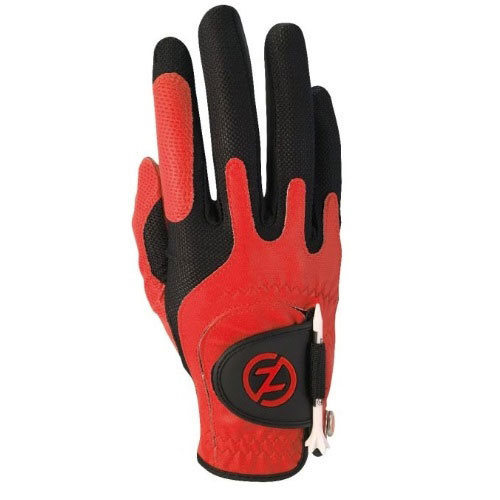 Men's Americana Leather Cabet Left Hand Golf Glove, Red, swatch