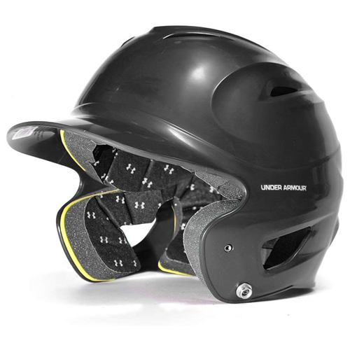 Classic Chrome Batting Helmet, Black, swatch