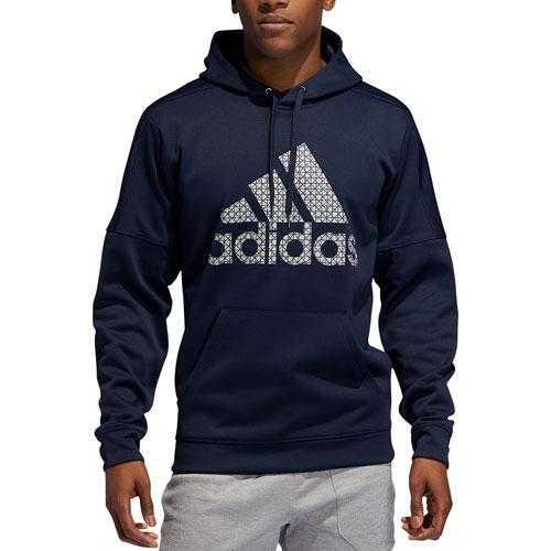Men's Team Issue Fleece Logo Hoodie, Navy, swatch