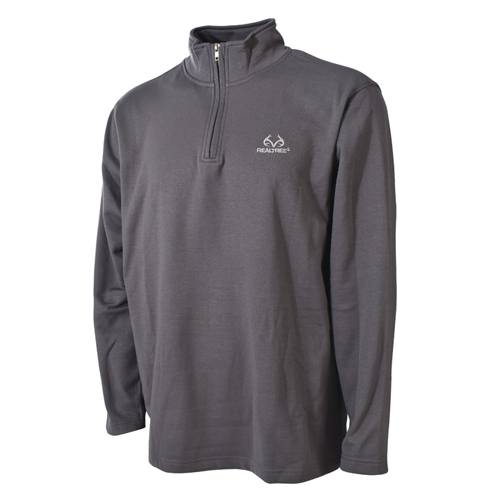 Men's 1/4 Zip Fleece Top, Gray, swatch