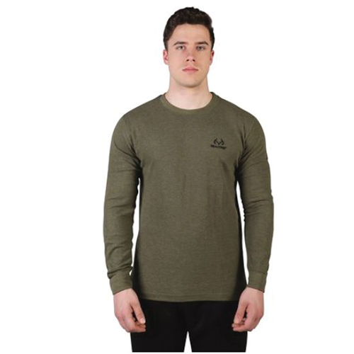 Men's Realtree Thermal Long Sleeve Tee, Dkgreen,Moss,Olive,Forest, swatch