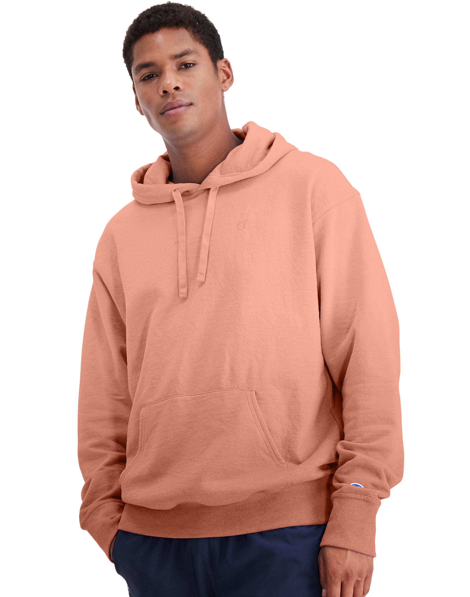 Men's Powerblend Ombre Hoodie, Orange, swatch