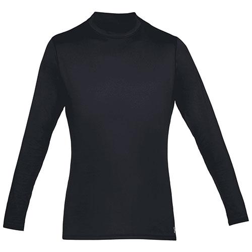 Men's Long Sleeve ColdGear Armour Mock Neck Shirt, Black, swatch