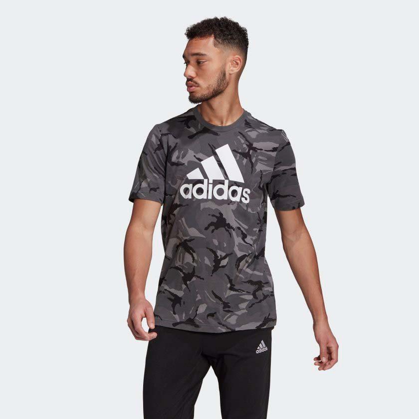 Men's Camo Print T_Shirt, Gray, swatch