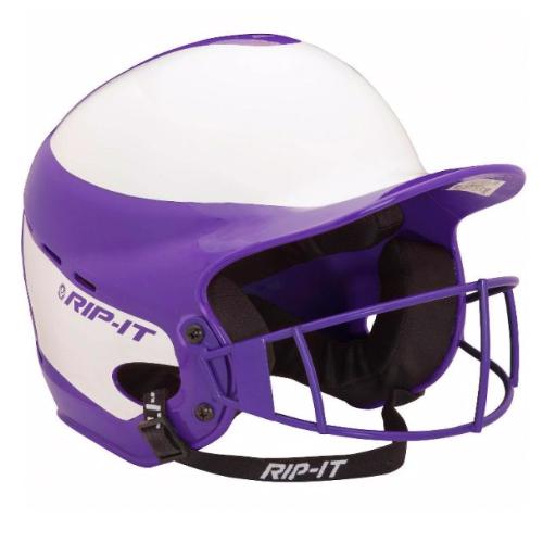 Vision Pro Softball Helmet With Mask, Purple, swatch