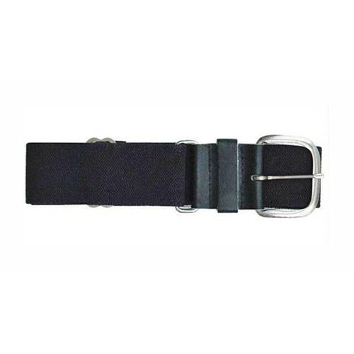 "1.5"" Leather Baseball Belt, Black, swatch"