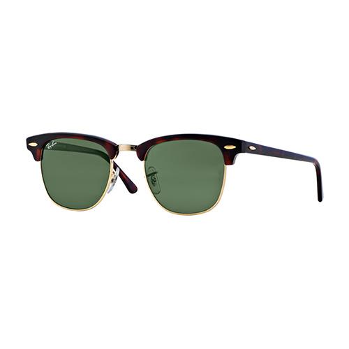 Clubmaster Classic Sunglass, Black/Green, swatch