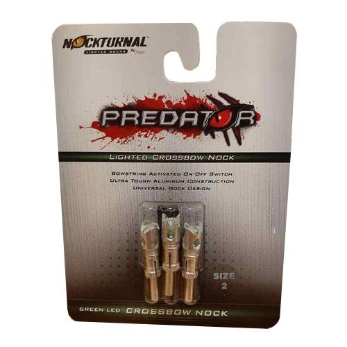 Predator 3 Pack Illuminated Nocks, Green, swatch
