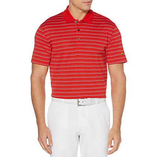 Men's Energy Striped Polo, Berry, swatch