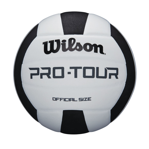 Wilson Pro Tour Indoor Volleyball, Black/White, swatch