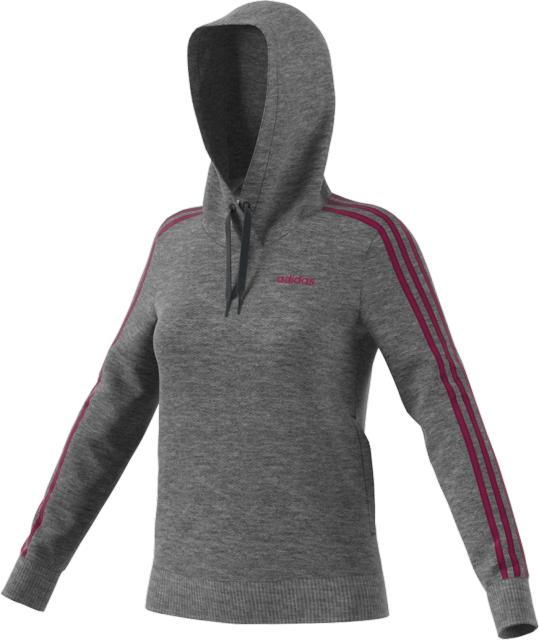Women's 3-Striped Hoodie, Charcoal,Smoke,Steel, swatch