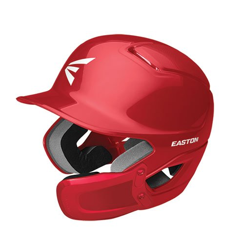 Alpha Batting Helmet with Universal Jaw Guard, Red, swatch