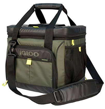 Square 30 Can Outdoorsman Cooler, Green, swatch