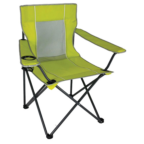 Mesh Folding Chair, Lime, swatch