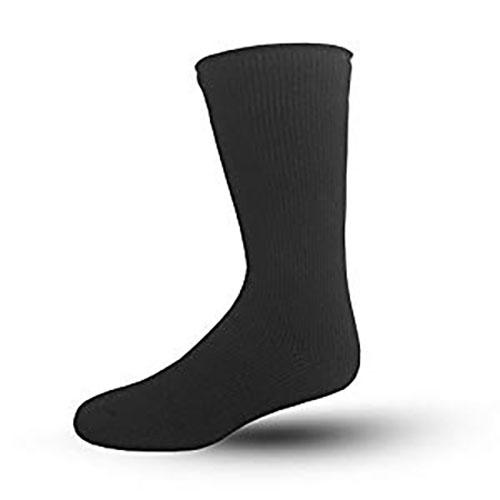 Men's Large 10-13 Blue Flame Black Sock, Black, swatch