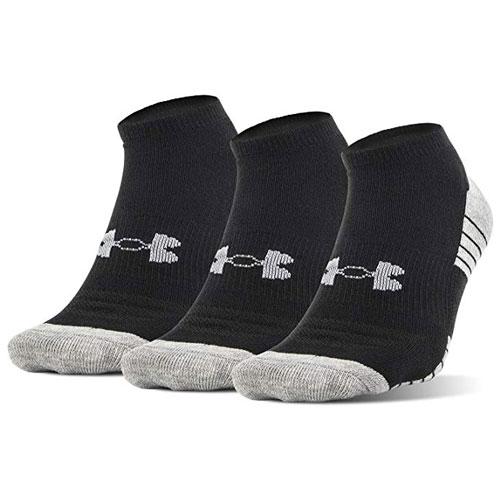 Men's Heatgear Tech No Show Socks, Black, swatch
