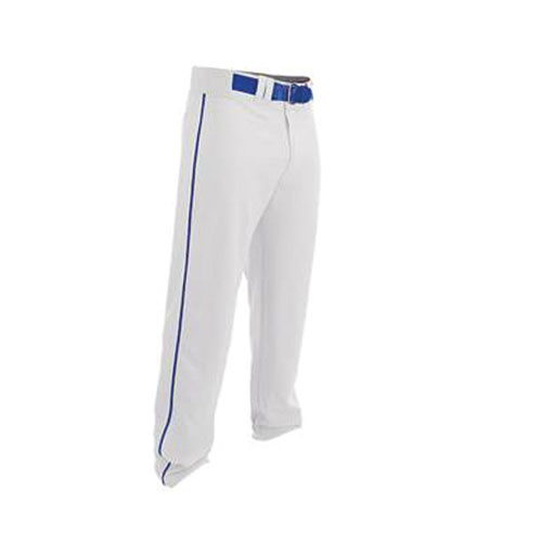 Youth Rival 2 Piped Baseball Pants, White/Royal, swatch