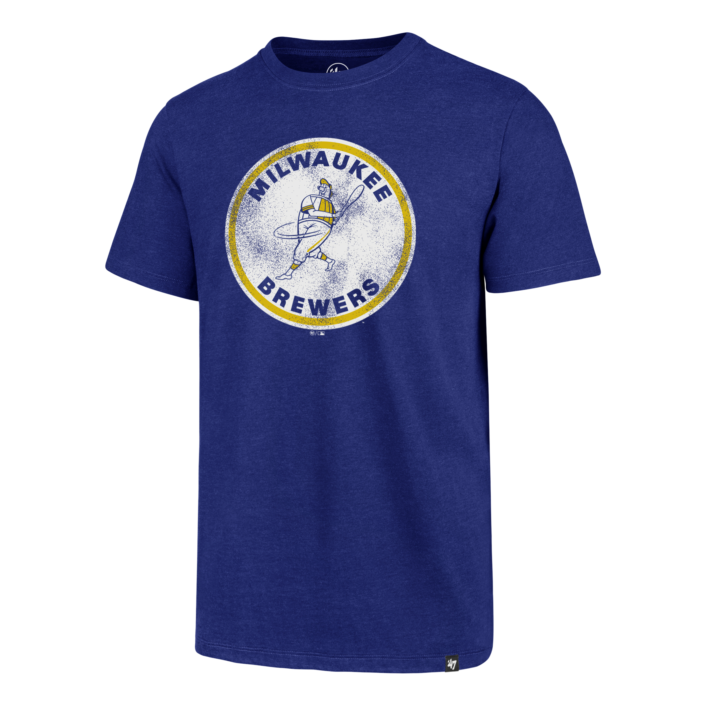 Brewers Throwback Clb Tee, Royal Bl,Sapphire,Marine, swatch